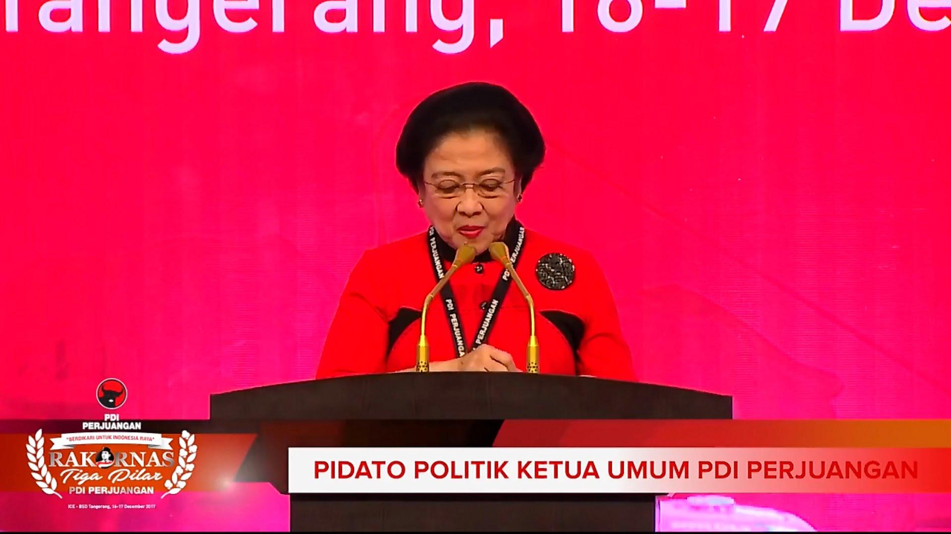 Photo of Pidato Politik Ketua Umum Rakornas Tiga Pilar PDI Perjuangan