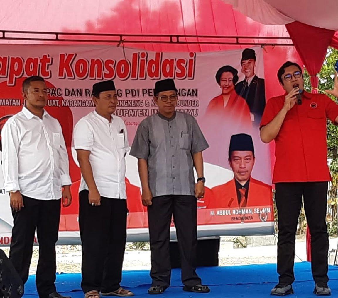 Photo of Konsolidasi PDI Perjuangan, Bacabup Indramayu Dikenalkan