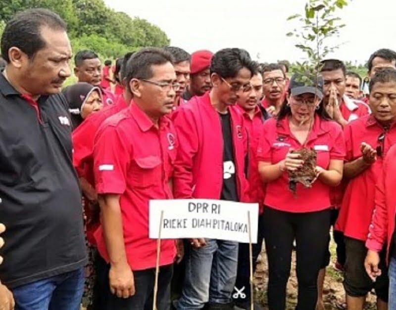 Photo of Benahi DAS Citarum, DPC PDI Perjuangan Kab. Bekasi Tanam 1500 Bibit Pohon